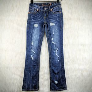 Seven 7 Bootcut Distressed Jeans Size 25